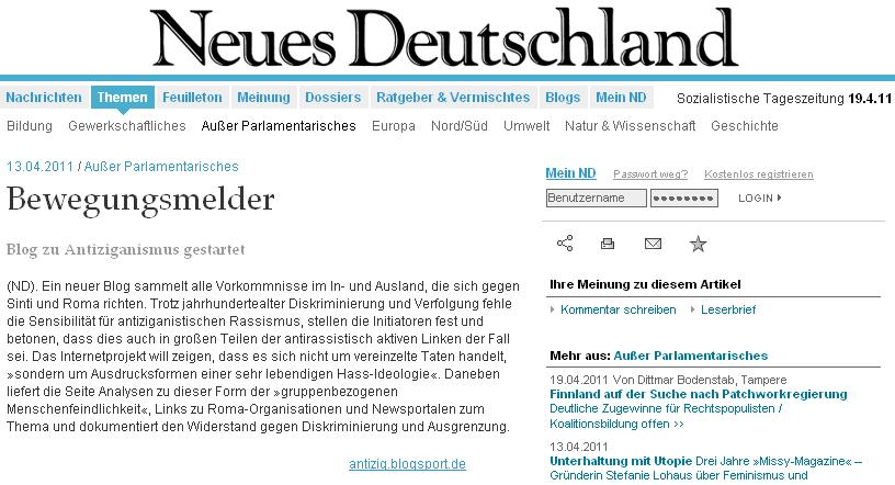 ND über antizig.blogsport.de